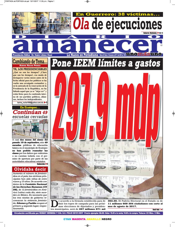 Noviembre 14 de 2017 by Diario Amanecer - issuu