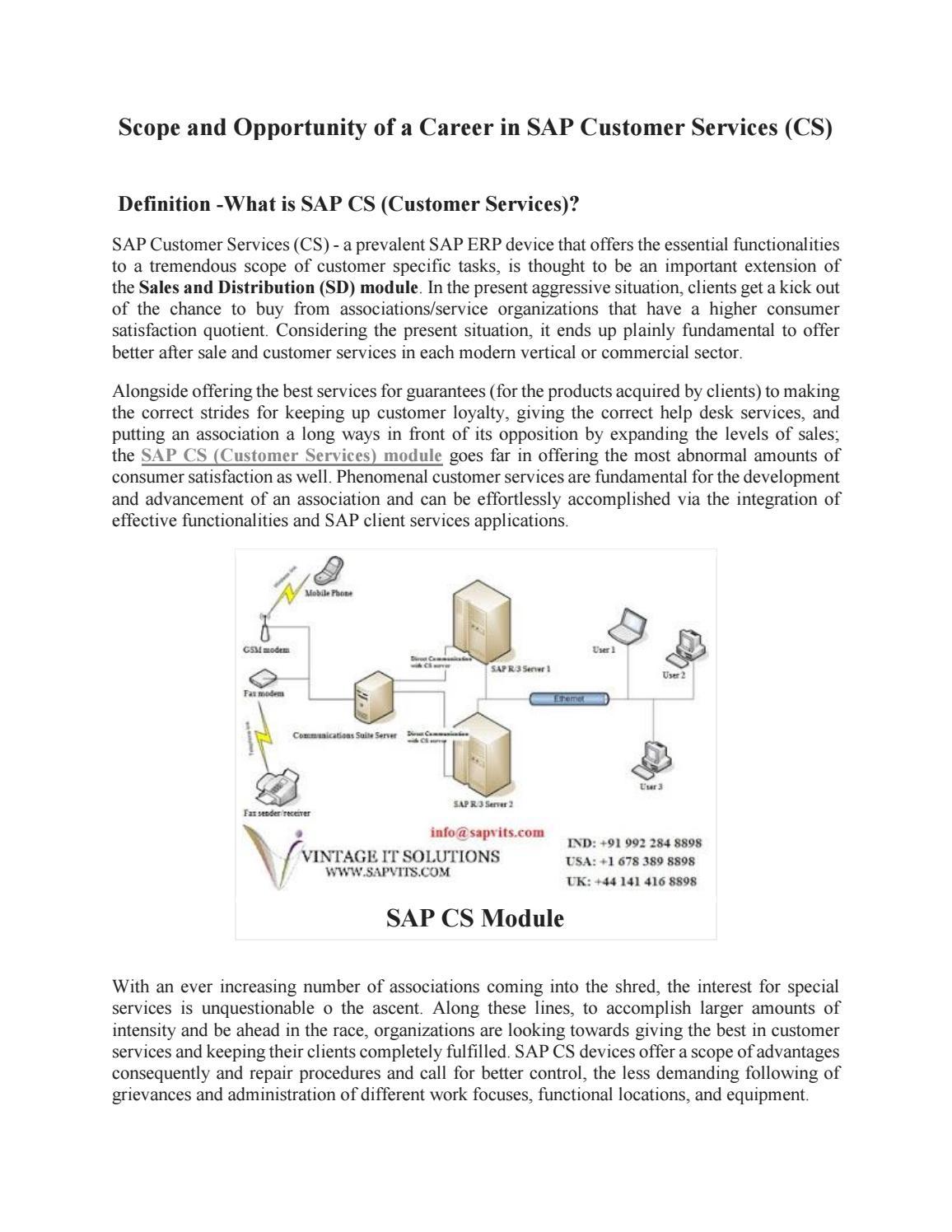 Sap customer service module pdf by sapvitskamini - issuu