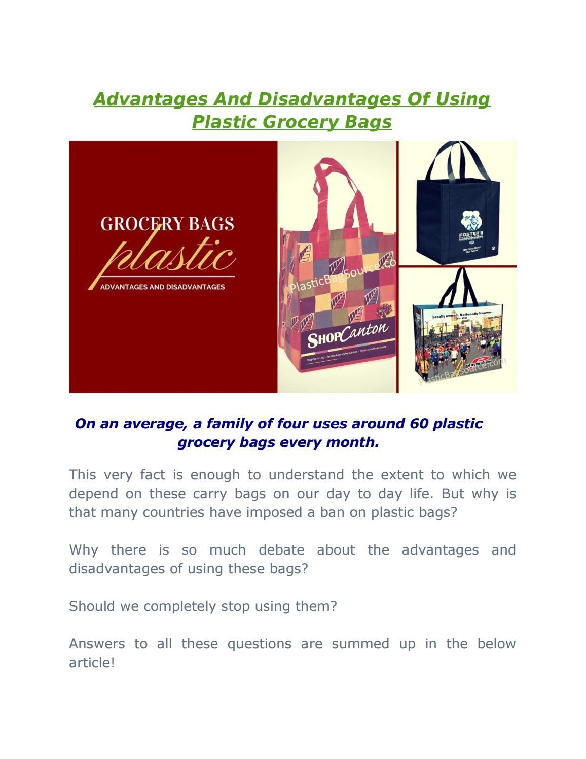 advantages and disadvantages of plastic