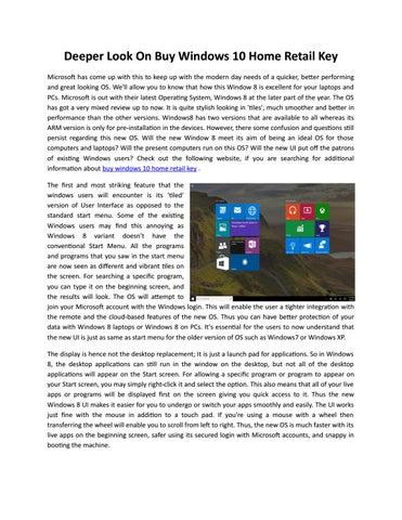 Deeper Look On Windows 10 Home Retail Key By Judy Ogle Issuu