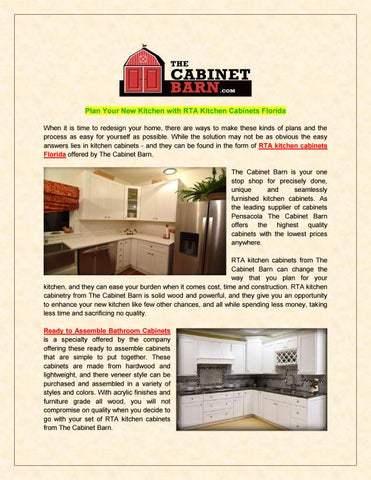 Rta Kitchen Cabinets By Thecabinetbarn