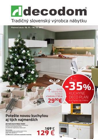5bcda7f94f229 Akciový leták Decodom by Decodom - Slovenský výrobca nábytku - issuu