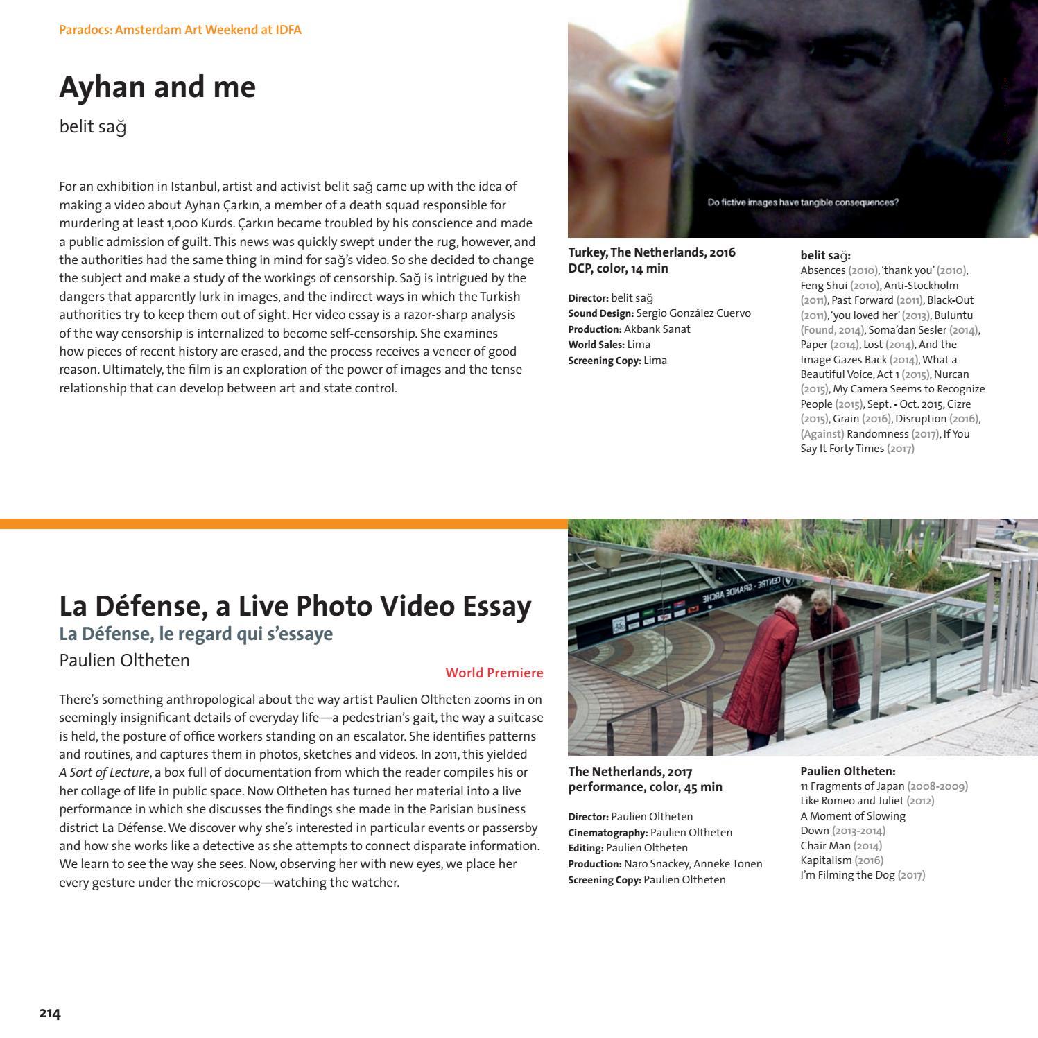 IDFA Catalogue 2017 by IDFA International Documentary Film Festival