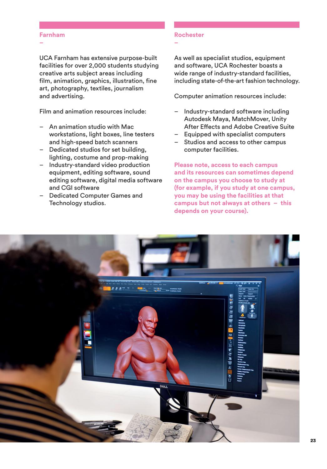 UCA Animation, Coding & Games by University for the Creative