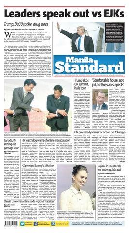 Manila Standard - 2017 November 15 - Wednesday