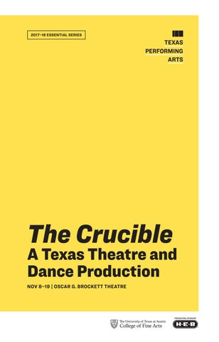 b98b1fb5bfae The Crucible by Texas Theatre   Dance - issuu