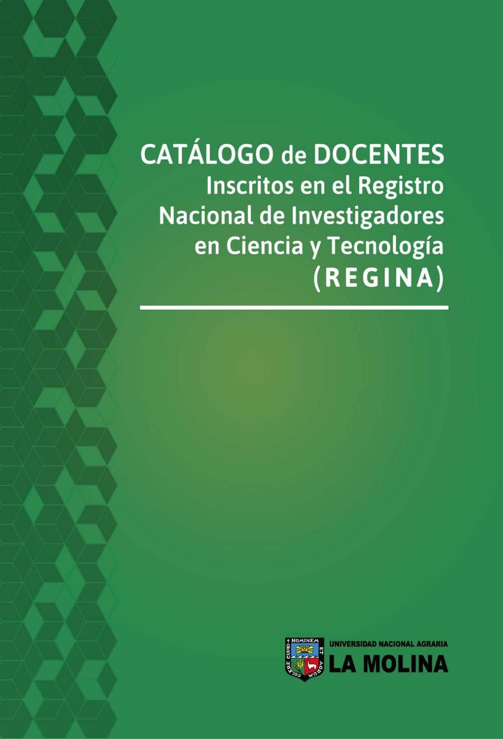 Catalogo REGINA - UNALM by compendio - issuu