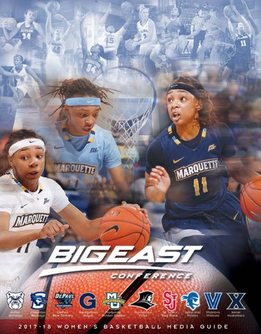 ae0e2682296c 2017-18 Women s Basketball Media Guide by BIG EAST Conference - issuu