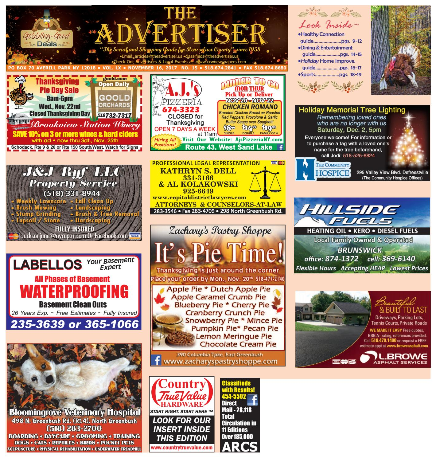 Advertiser South 111617 by Capital Region Weekly Newspapers