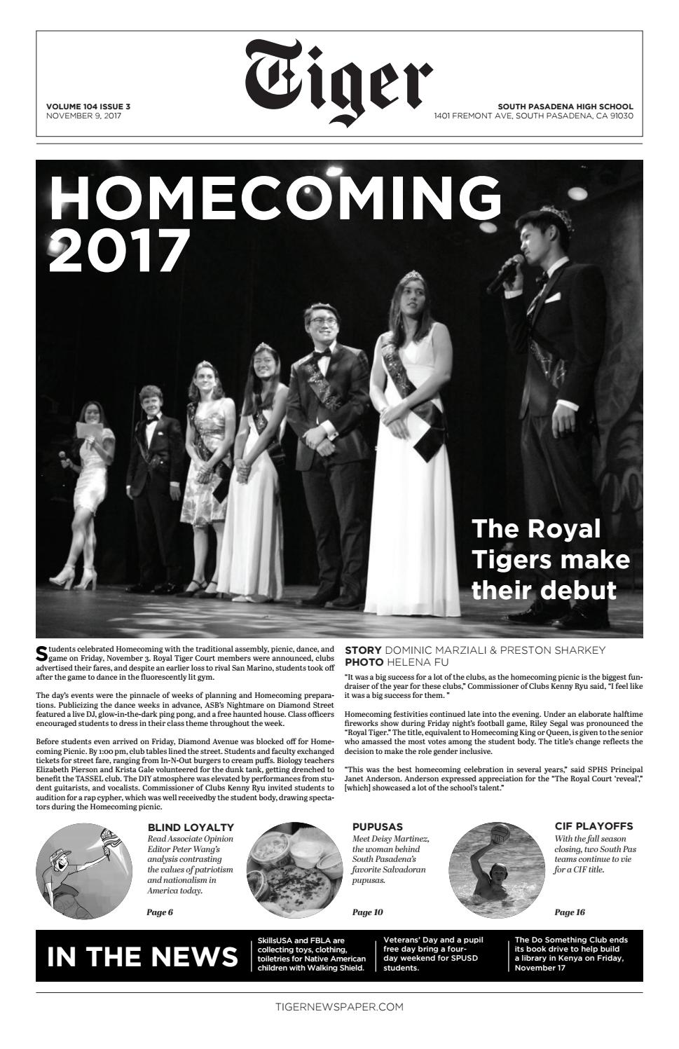 Tiger Newspaper November 2017 by Tiger Newspaper - issuu