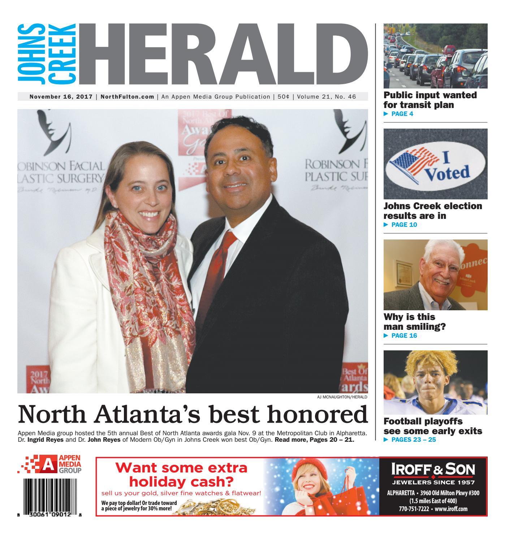 Johns Creek Herald November 16 2017 By Appen Media Group Issuu