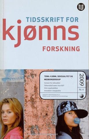 b0050d29 Kjønnsforskning 4/09 by Kilden kjønnsforskning.no - issuu