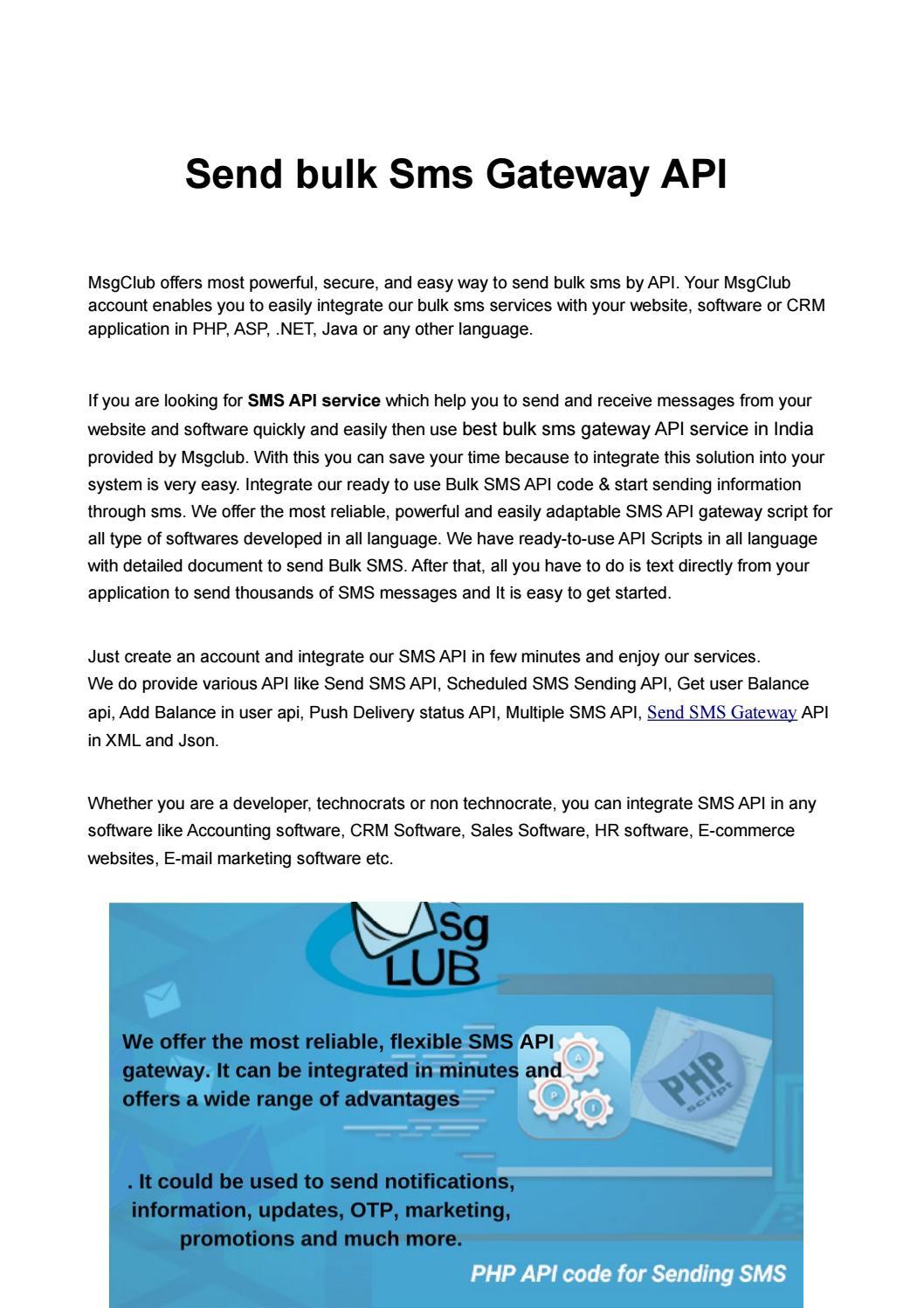 Send bulk Sms Gateway API by roopesh - issuu