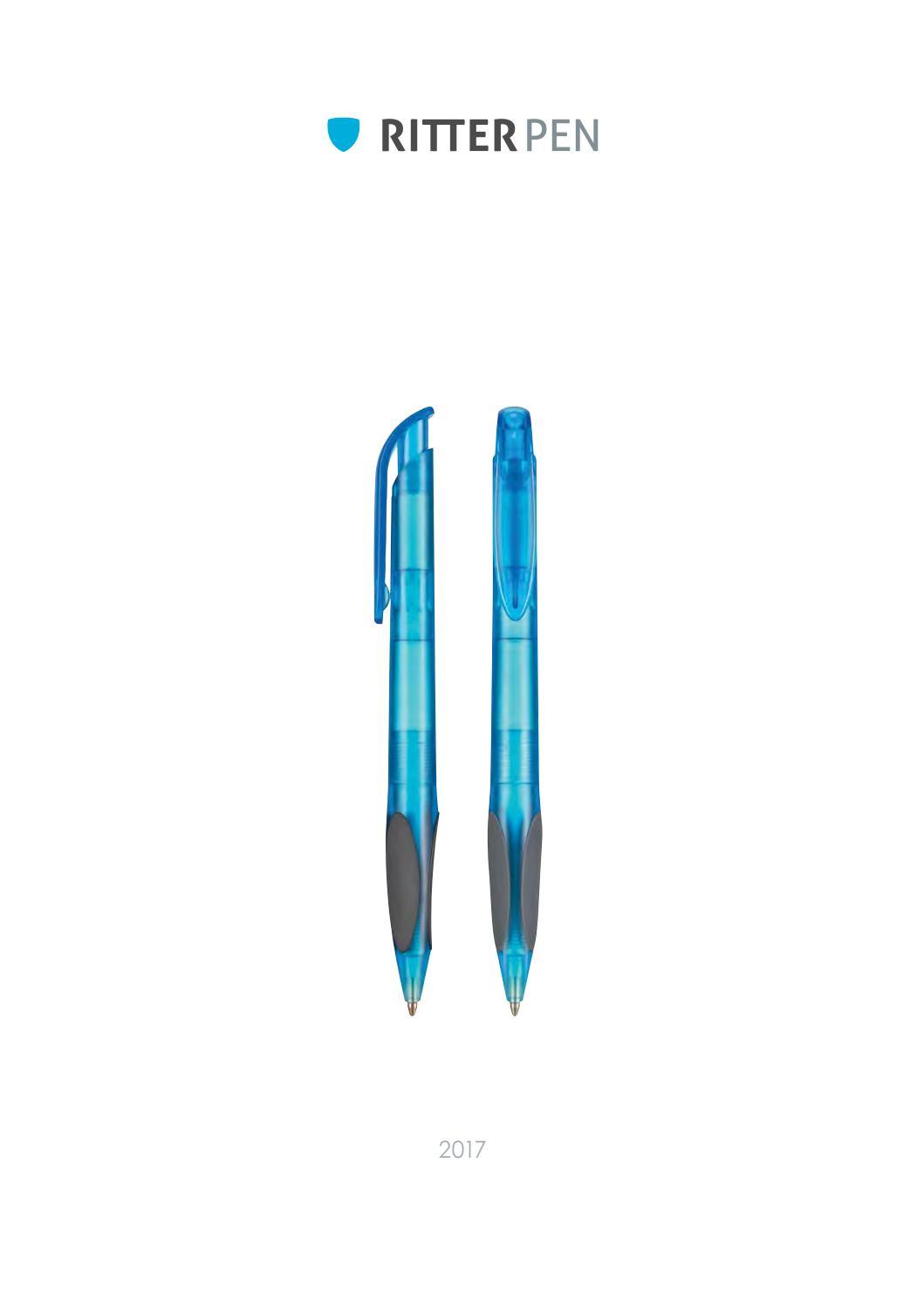 Farbe aus Metallic-Kunststoff mit Touch-Pad blau 10 Kugelschreiber