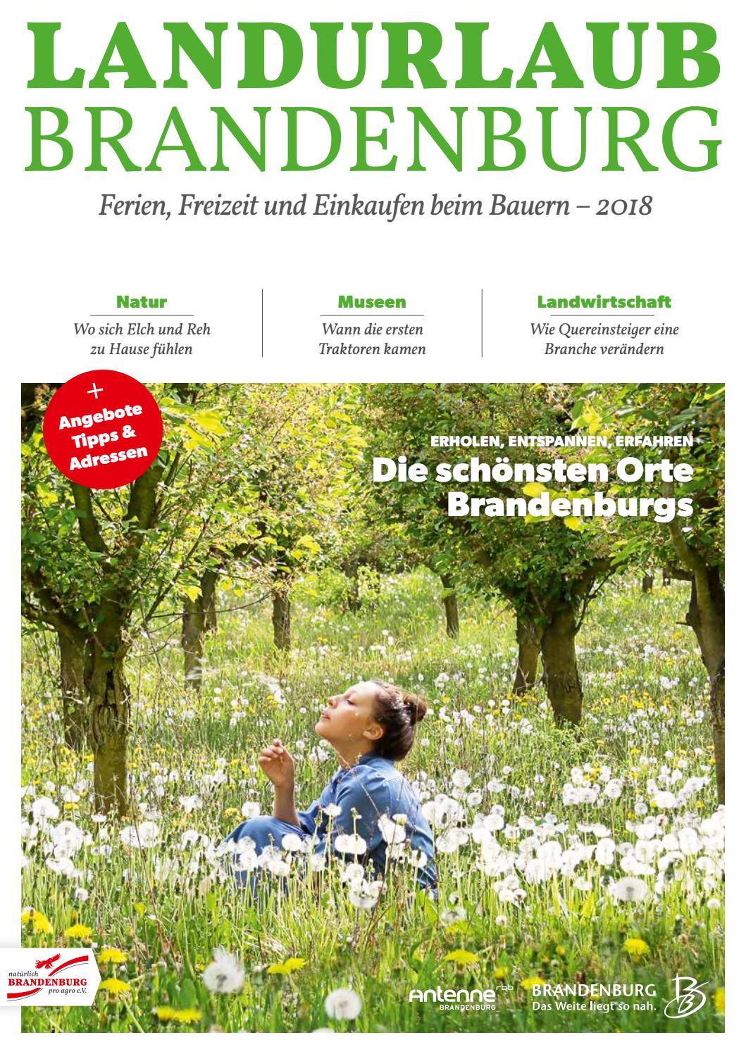 landurlaub brandenburg 2018 by reiseland brandenburg issuu. Black Bedroom Furniture Sets. Home Design Ideas