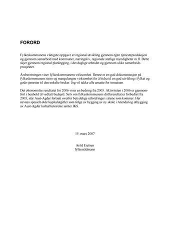 75a8da64f Årsrapport 2006 for Aust-Agder fylkeskommune by Aust-Agder ...