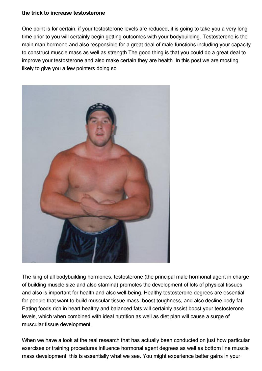 What influences the increase in muscle mass