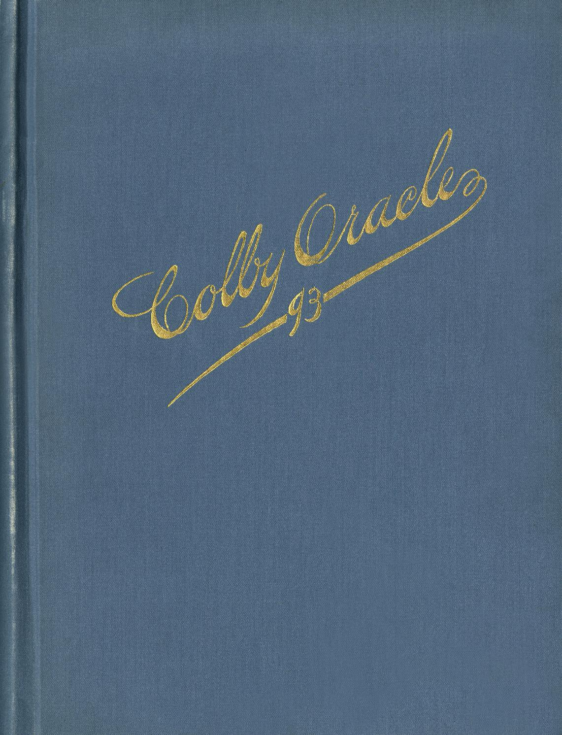 The Colby Oracle 1893 by Colby College Libraries - issuu