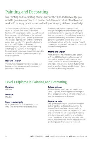 Moulton College - Further Education Prospectus 2018 by