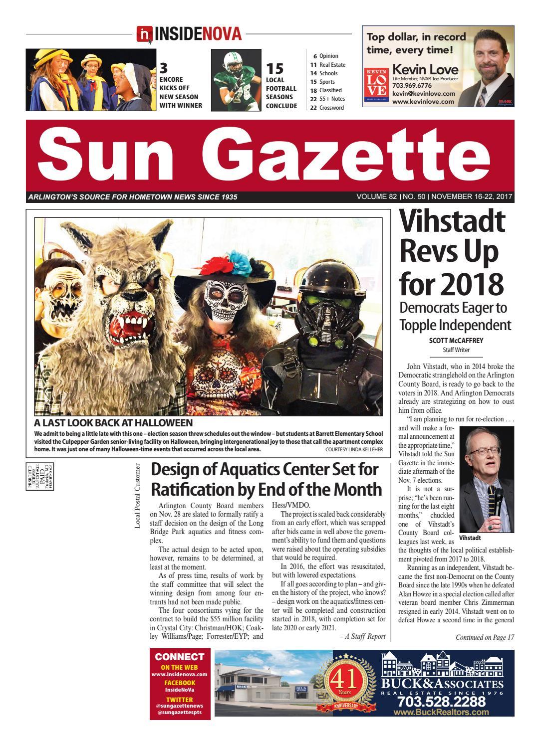 Sun Gazette Arlington November 16 2017 By Insidenova Issuu