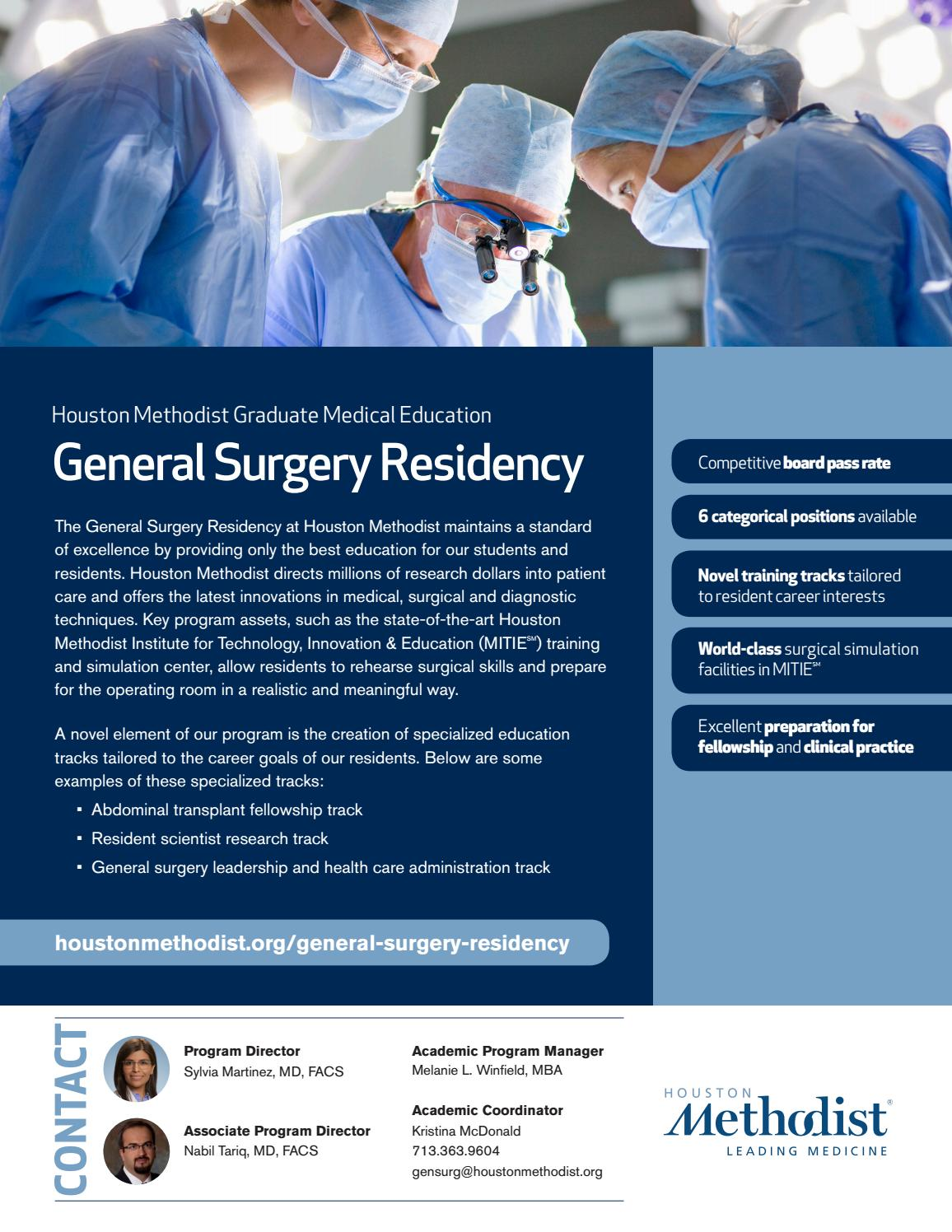 General Surgery Residency by Houston Methodist Professional