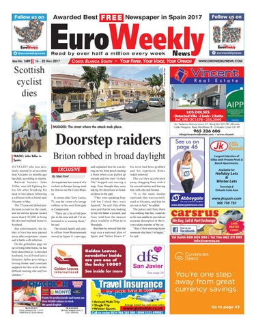 925f857ddce Euro Weekly News - Costa Blanca South 16 – 22 November 2017 Issue 1689