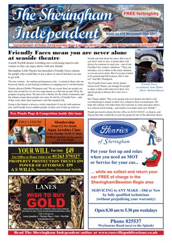 Sheringham independent 476 by eric hayton issuu page 1 fandeluxe Choice Image