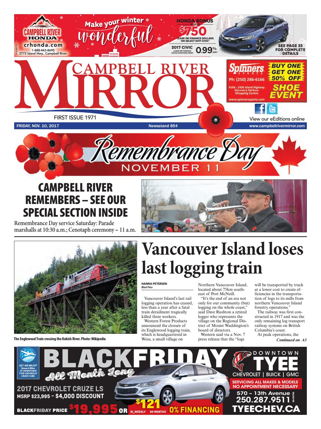 Campbell River Mirror, November 10, 2017 by Black Press