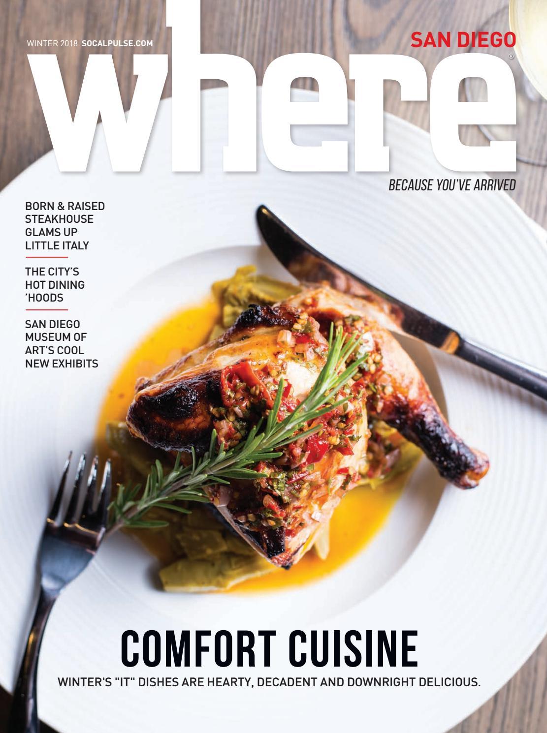 WHERE San Diego Magazine Winter 2018 by SoCalMedia - issuu