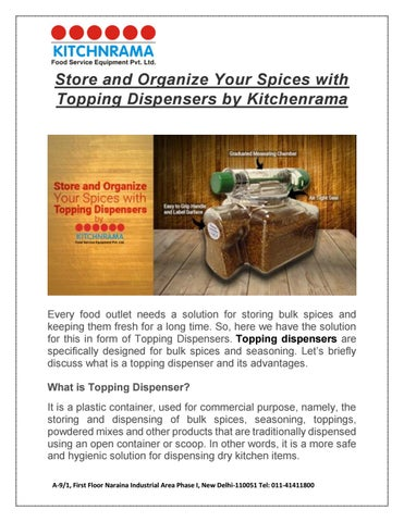 Store And Organize Your Spices With Topping Dispensers By Kitchenrama