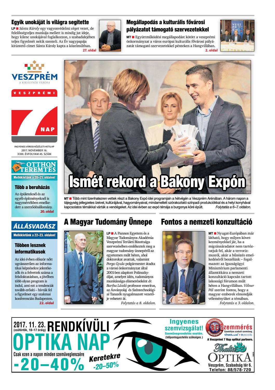 Veszprémi 7 Nap - 2017. 11. 16. by Maraton Lapcsoport Kft. - issuu 455c6eb28a