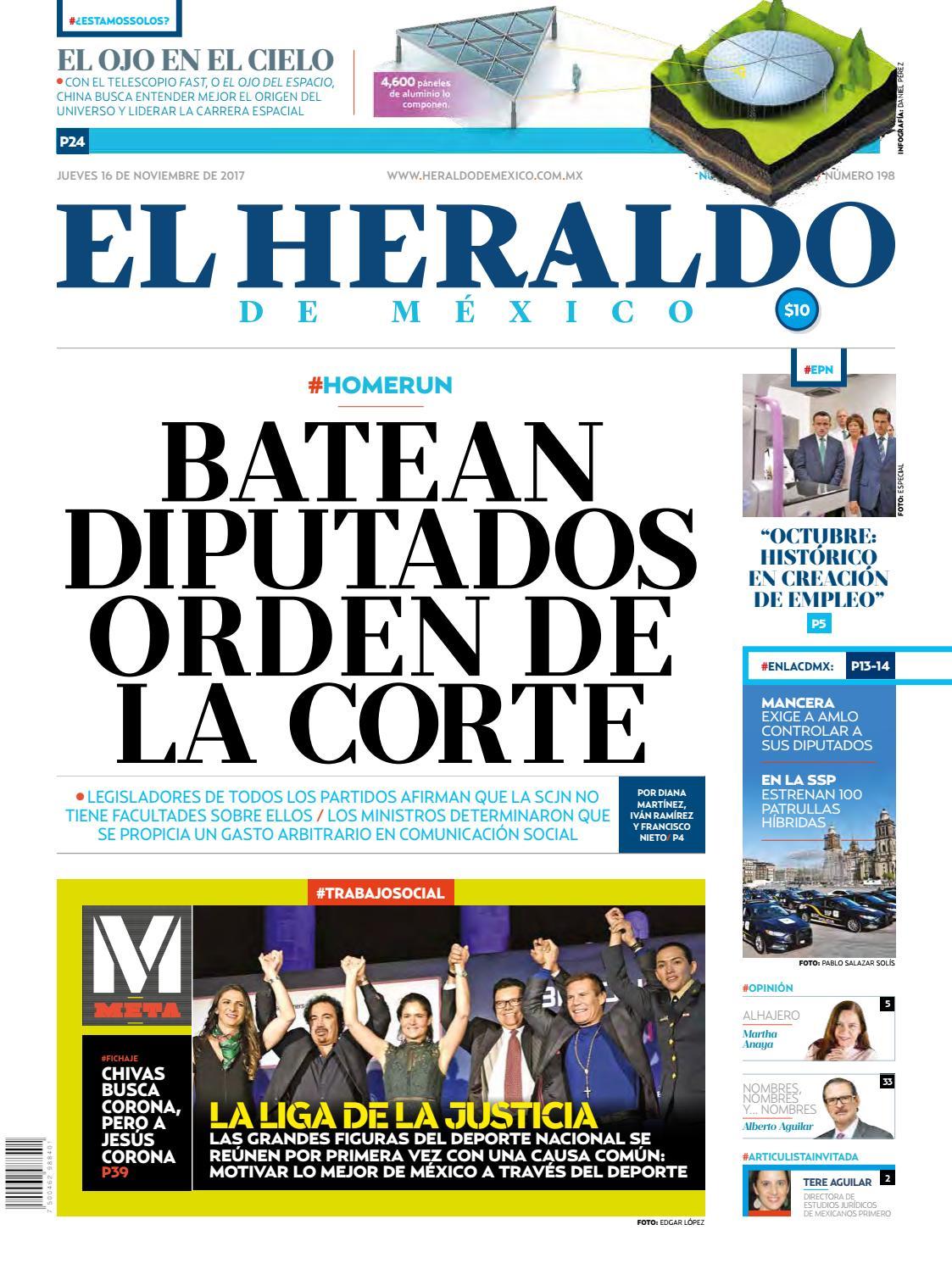 El Heraldo de México 16 de noviembre del 2017 by El Heraldo de ...
