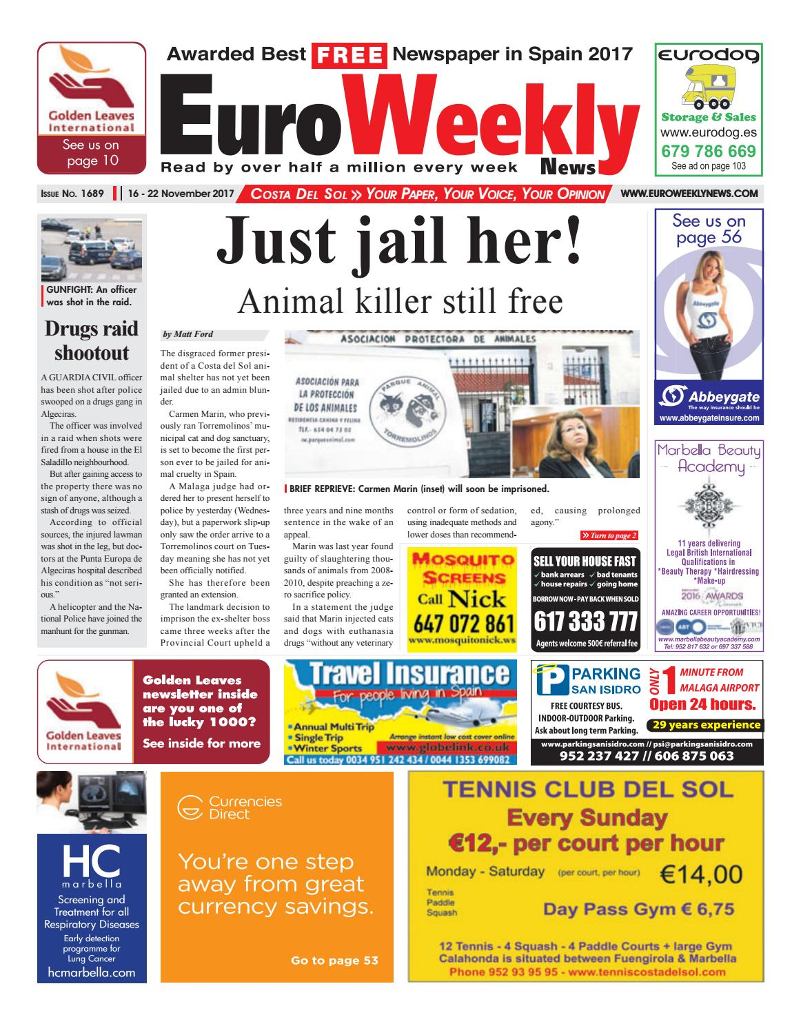 euro weekly news costa del sol 16 22 november 2017 issue 1689 by