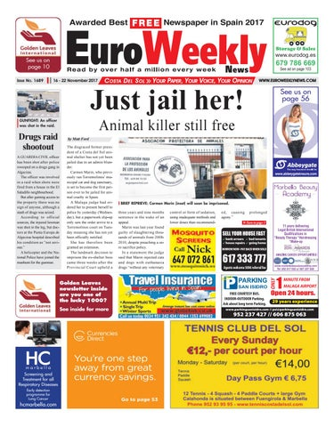 Euro weekly news costa del sol 16 22 november 2017 issue 1689 by page 1 fandeluxe Images