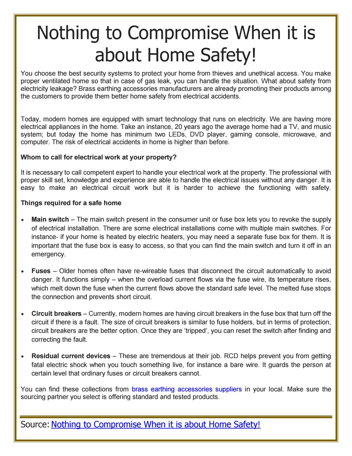 Nothing To Compromise When It Is About Home Safety By Pallega Issuu Safe Fuse Box