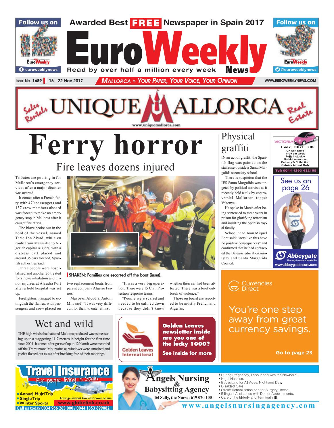 Euro Weekly News Mallorca 16 22 November 2017 Issue 1689 By