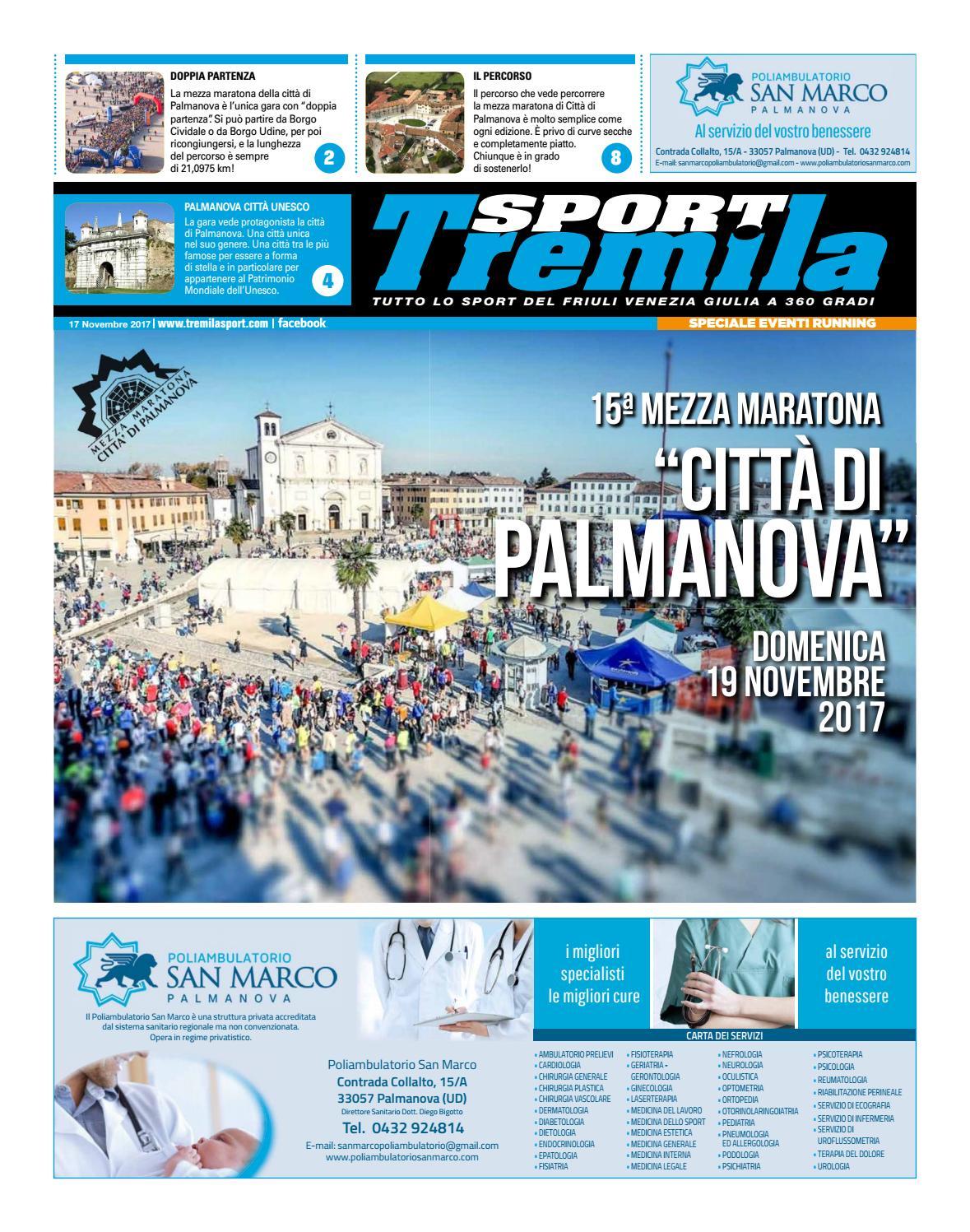 Calendario Fiasp Fvg.Tabloid Mezza Maratona Palmanova 19 11 2017 By Tremilasport