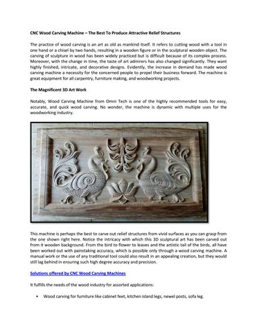 CNC Wood Carving Machine – The Best To Produce Attractive