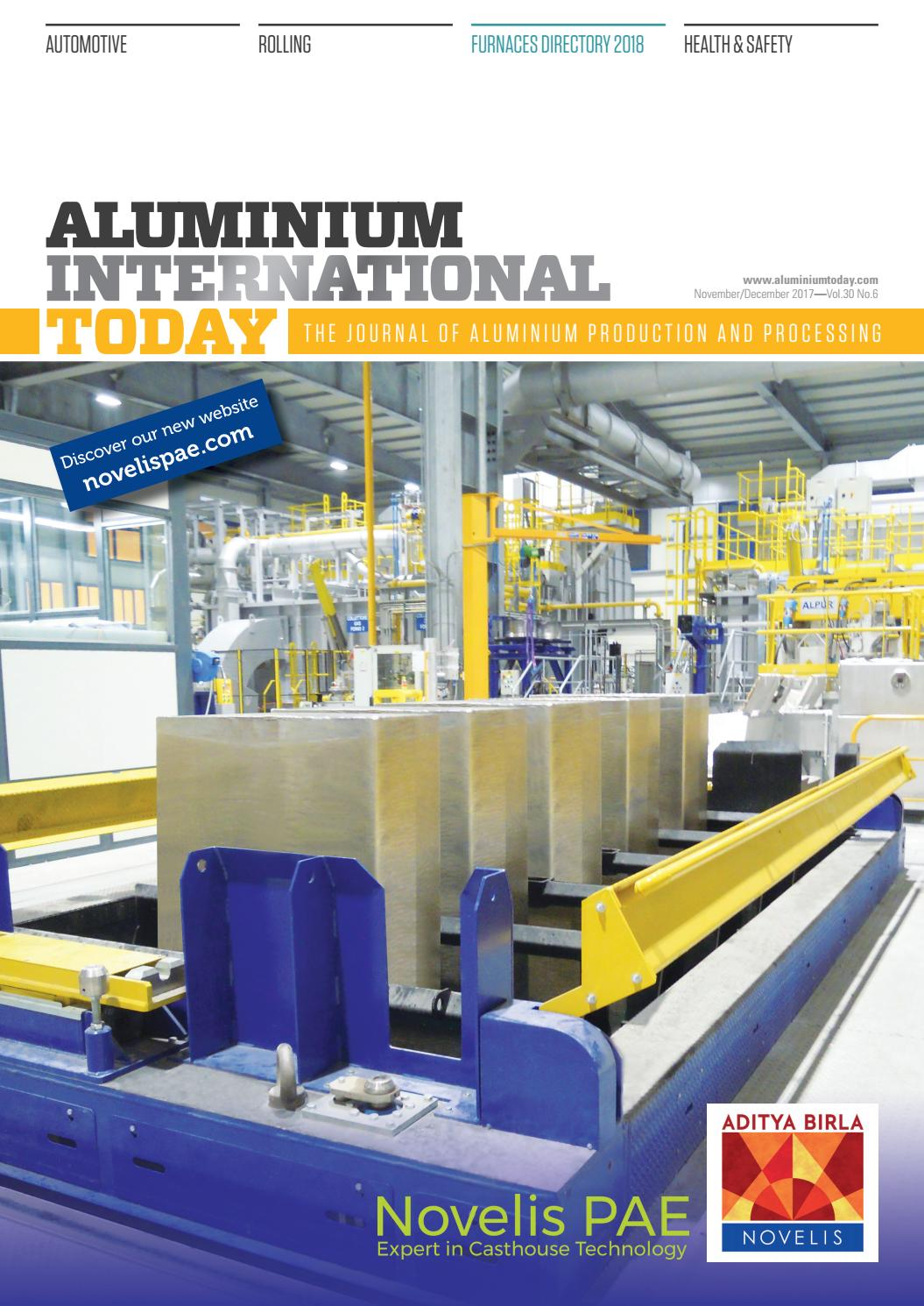 Aluminium International Today November December 2017 by Quartz Business  Media - issuu c353a2d98ea