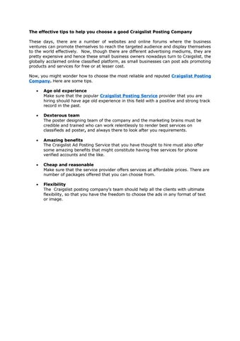 Blog 6 By Dallas Classified Ads Poster Issuu