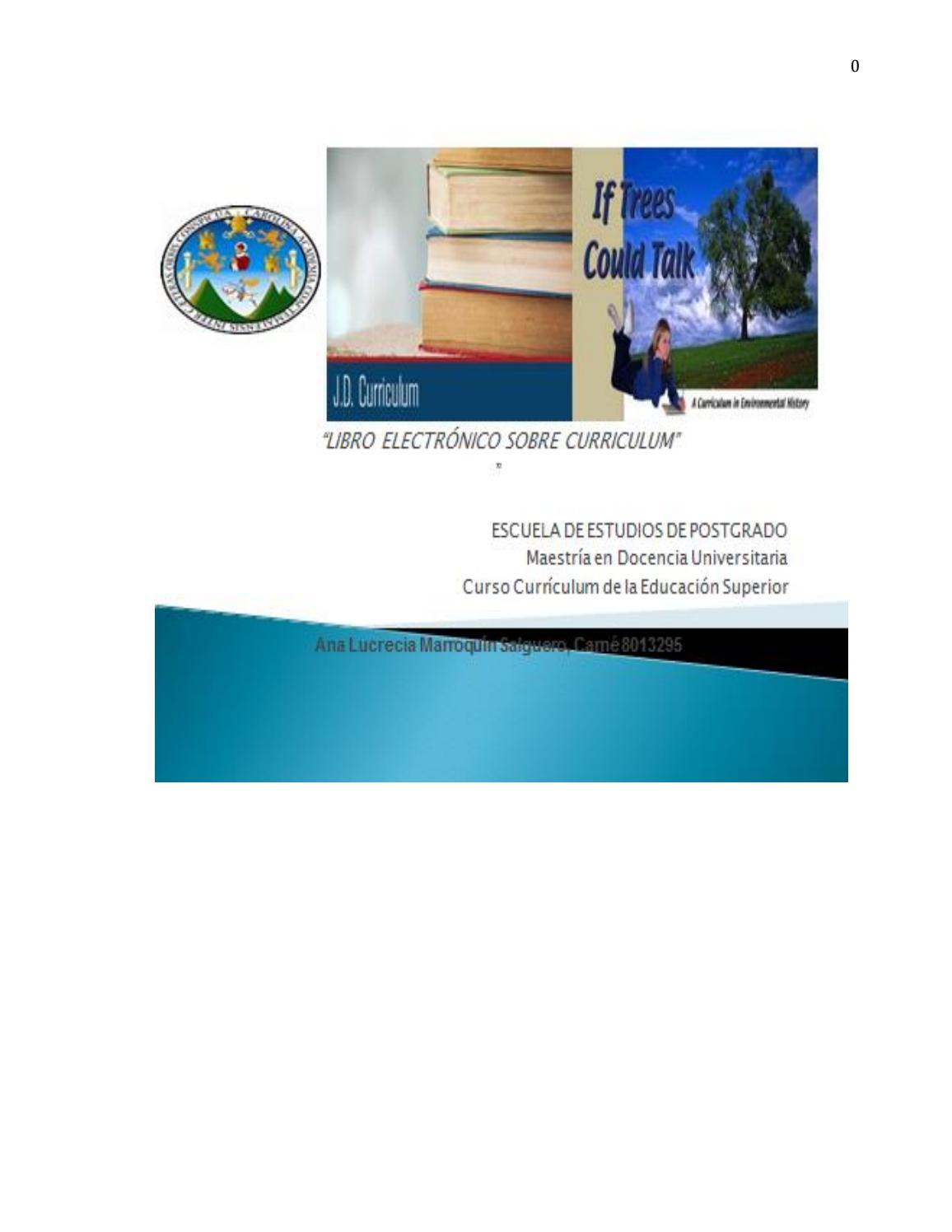 Libro electrónico, sobre Currículum by Ana Marroquín - issuu
