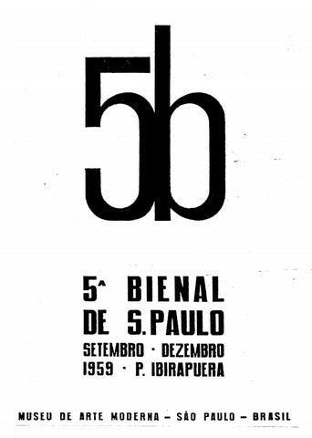 5ª Bienal de São Paulo (1959) - Catálogo by Bienal São Paulo - issuu 4cfca770a011b
