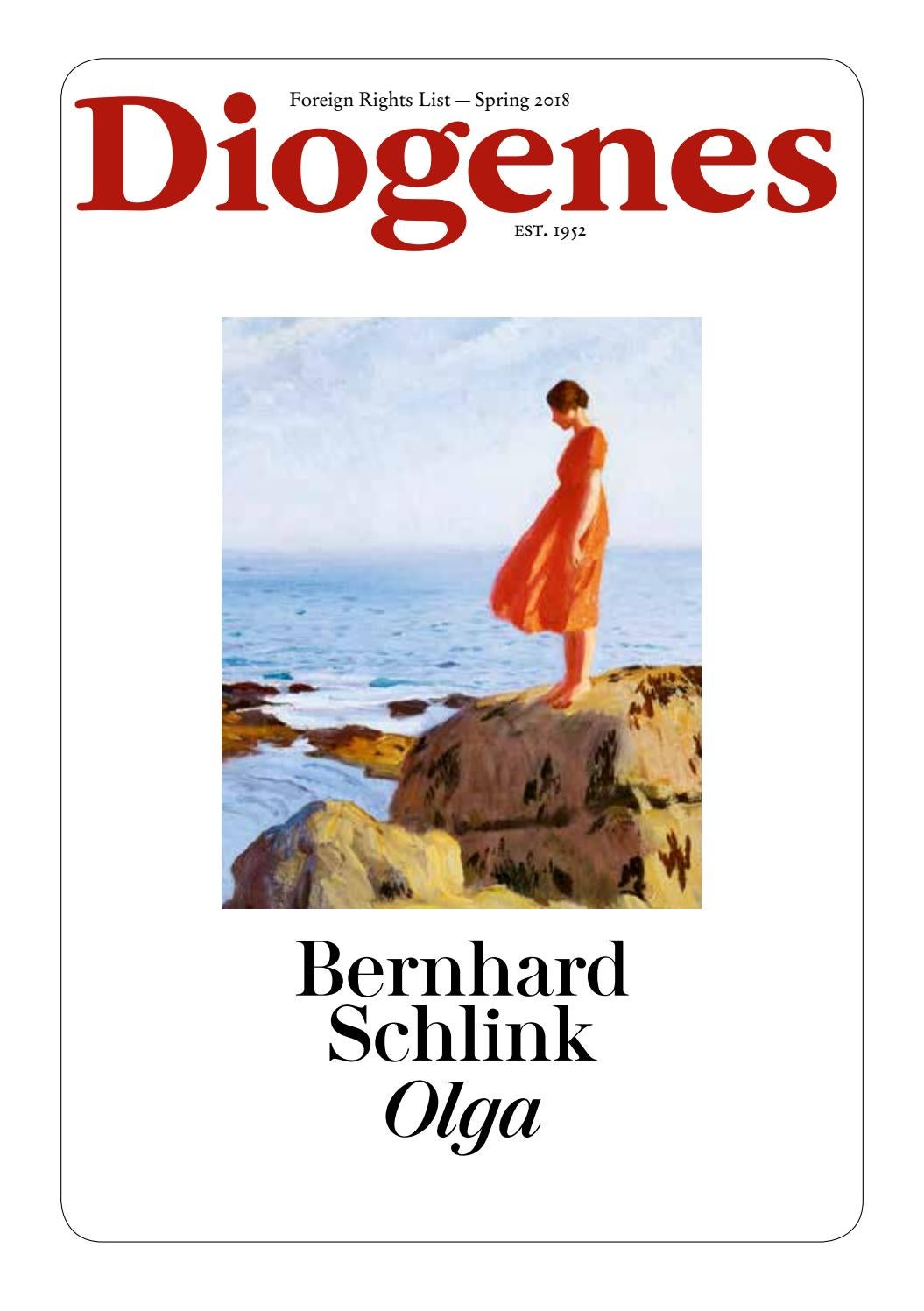 Diogenes Foreign Rights 2018 Spring By Diogenesverlag Issuu