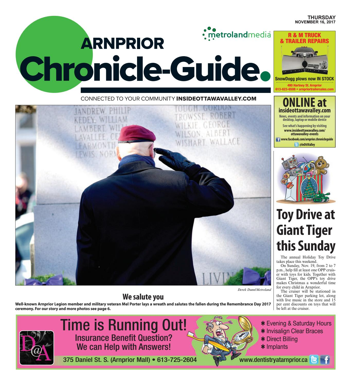 Arnprior111617 by Metroland East - Arnprior Chronicle-Guide - issuu