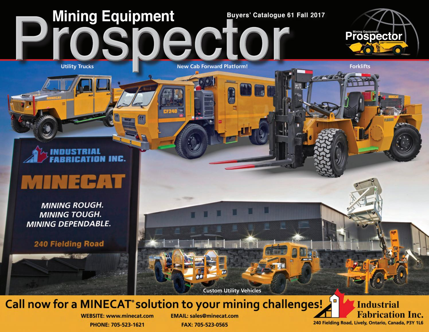 Mining Equipment Buyer's Catalogue v61 by The Mining Equipment