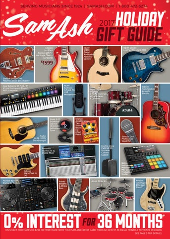 Holiday 2017 Sam Ash GearGuide By Music Corp