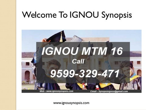 Ignou Bca Project Synopsis Outline