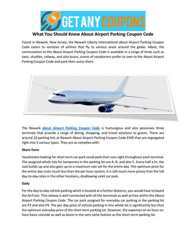 What You Should Know About Airport Parking Coupon Code By
