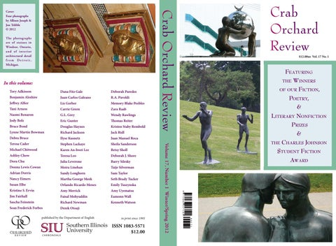 c1048312f9b Crab Orchard Review Vol 17 No 1 W S 2012 by Crab Orchard Review - issuu