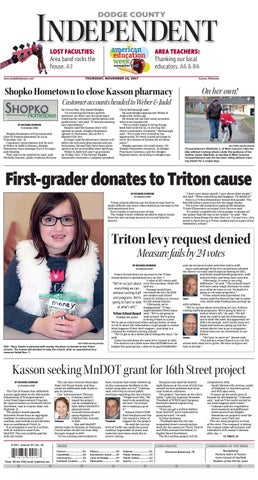 Dodge County Independent Nov  16 issue by Ann Anderson - issuu
